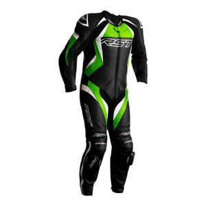 RST Tractech Evo 4 Kawasaki Green/Black 1PC Motorbike Leather Racing Suit