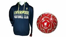 Liverpool F.C. Official Soccer Hoodie Jacket & Size 5 Ball 03-1 XL