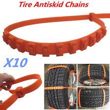 10X Car Truck Snow Wheel Tire Thickened Tendon Anti-skid Antiskid Chains TPU Kit