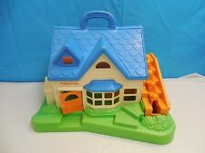 VINTAGE 1990 FISHER PRICE LITTLE PEOPLE PLAY HOUSE UNIT MOVING STAIRS PRESCHOOL