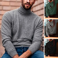 Men Roll Neck Jumper Autumn Warm Sweater Sweatshirt Top Base Layer Underwear Top