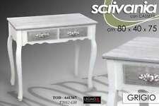 SCRIVANIA H75*80*40 SCRITTOIO TAVOLO CONSOLLE SHABBY CHIC GRIGIO ARGENTO 641367