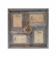 "4x6 -2"" wide Multi-Direction Rustic Barn Wood Collage Frame Holds 4-4x6 Pictures"