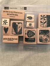 Stampin Up Simply The Best Set Of 10 Wood Mounted Rubber Stamp Su Scrapbooking