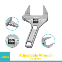 Adjustable Wrench 16-68mm Large opening bathroom Spanner Wrench Nut Hand Tool