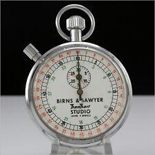 Vintage BIRNS & SAWYER HANHART Studio Mechanical Stop Watch 7 Jewels