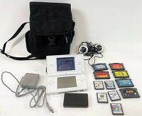 WHITE Nintendo OEM Gameboy DS LITE Handheld Game Console Bundle w 11 Games Case