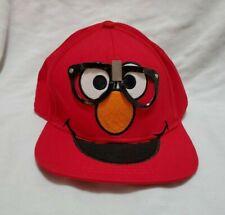 Sesame Street Elmo Wearing Glasses Red Hat Ball Cap Adjustable Snapback Nerd