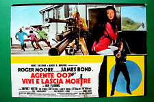 T01 FOTOBUSTA AGENTE 007 VIVI E LASCIA MORIRE ROGER MOORE JAMES BOND SPY CULT 3