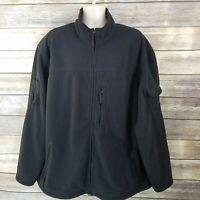 Duluth Trading Size 2XLT Older Version Shoremans Fleece Gridlock Jacket Black