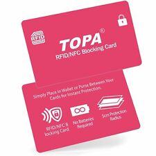 2xRFID Blocking Credit/Debit Card Protector NFC Contactless Signal Blocker Pink