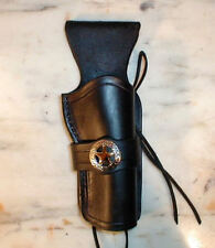 WESTERN HOLSTER 4 3/4 COLT  FAST DRAW SINGLE ACTION CFDA BLACK LEATHER