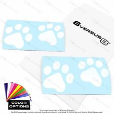 4x Cat Dog Paw Print Vinyl Car Decal Sticker Window Footprint Puppy Paws Laptop