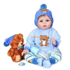 Real Life Reborn Baby Boy Handmade Looking Newborn Soft Silicone Baby Doll 22""