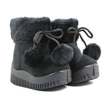 4 Color Zipper Synthetic Faux Fur Toddlers Kids Girls Winter Snow Boots Shoes