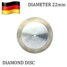 Set of 3 Diamond Dental Flexible One Sided Discs 22mm + Mandrel Germany