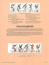 FDC  Stamp # 2642-2646  29 cent Hummingbirds Bird 1992  USPS Souvenir Page 92-22