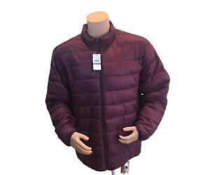 NWT$90 Mens Callaway maroon full zip puffer Golf  jacket 2XL (CGJF90Q8C1)