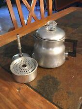 VINTAGE WearEver Aluminum COFFEE POT PERCOLATOR No. 3002 1-2 cups CAMPING