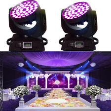 New listing 36 x 10W Rgbw (4in1) Led Zoom Moving Head 360W Wash Stage Light Dmx 16Ch 2Pcs