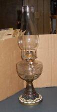 "Vintage Antique Painted Metal Base Non Electric Oil Lamp 17"" Queen Anne Burner"