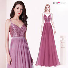 Ever-Pretty Sequins Bridesmaid Dresses Long Strappy Evening Dress Pink 07392