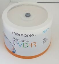 Memorex DVD-R White Printable 50pk Spindle Blank Discs **Local Pickup Only**
