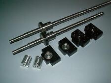 2 anti backlash 16mm ballscrew RM1605-1100mm-C7+BK/BF12 end bearing support CNC