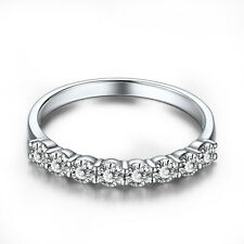 Aaa Flawless Cubic Zirconia Engagement Ring 14K White Gold Pave Setting 1.4ct
