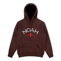 Noah NYC Core Logo Hoodie 2018 FW HOODED SWEATSHIRT SUPREME BOX CROSS BROWN CDG