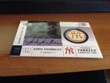 2001 Upper Deck Legends Of New York Game Bat Autograph Chris Chambliss