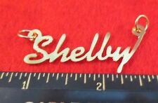 "14Kt Gold Ep ""Shelby"" Personalized Nameplate Word Charm Pendant 6361A"