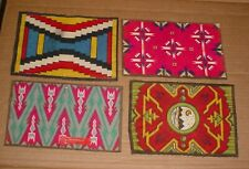Group Of Antique Tobacco Felt Rug - Miniature Indian Blankets Series