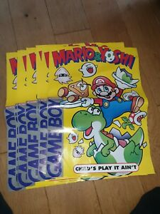 Original Mario & Yoshi 1993 Nintendo A2 Poster official