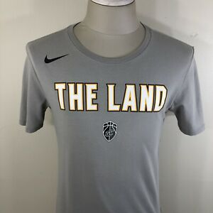 NIKE Cleveland Cavaliers THE LAND NBA Dri-Fit Gray T Shirt Men's Small S Tee