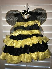 Fairy Dust Girls Childs Halloween Costume Sz  5T Yellow/BlackCostume W/Wings New