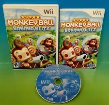 Super Monkey Ball: Banana Blitz - Nintendo Wii Game - COMPLETE Rare plays on Wii