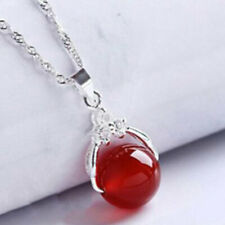 5* Natural Chinese Red Agate Chalcedony Pendants Lucky Hand-carved Lover hanging