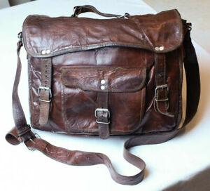Antiqued Leather Satchel by VidaVida,