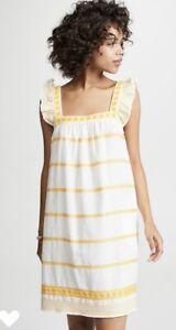 Tory Burch Embroidered Ruffle Sleeveless Dress. Size XS. NWT. Retail- $358