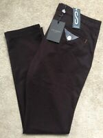 "TED BAKER BURGUNDY ""SORTON"" SLIM FIT TROUSERS PANTS CHINOS - 34L - NEW & TAGS"