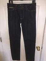 Marc Nelson Womens Boyfriend Jeans Size 27 x 29 Dark Wash NWOT