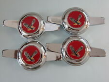Lowrider hydraulics 2 bar knockoffs, recessed, chrome, Dayton, red eagle chips