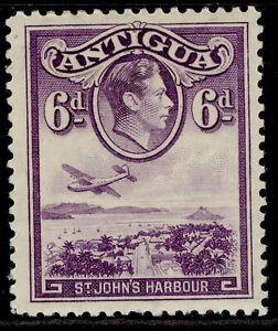 ANTIGUA GVI SG104, 6d violet, M MINT.