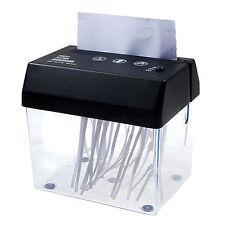 Eléctrico Portátil Papel Picadora Oficina Hogar Escritorio Pequeño Gadget Pc