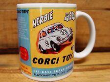 300ml COFFEE MUG, CORGI TOYS HERBIE THE LOVE BUG, CODE 3 CUSTOM ARTWORK