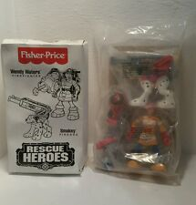 VTG 1998 FISHER PRICE RESCUE HEROES WENDY WATERS FIREFIGHTER,SMOKEY FIREDOG NEW