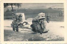 3 x Foto, schwerer Autounfall bei einer Sommerübung 1939  (N)19456