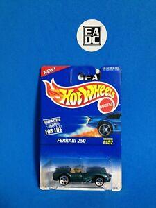 1996 HOT WHEELS BLUE CARD FERRARI 250 MET JADE #452 WHEEL VARIATION  EADC