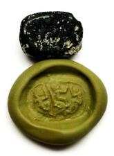 New listing Phoenician, Black Glass Scaraboid, 7th-5th Century Bc, 14 x 18 mm, Intact